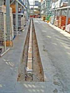 Installing new strip drain at Wal Mart 3-1