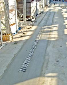 Installing new strip drain at Wal Mart 5